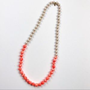 Kate Spade Faux Pearl & Neon Bead Strand Necklace
